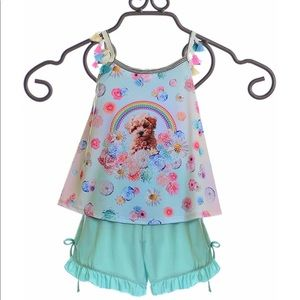 🐶NWT!! Little Mass Puppy shirt and shorts set🐶